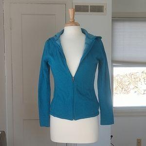 Tek Gear Blue Soft Zip Up Hoodie With Pockets